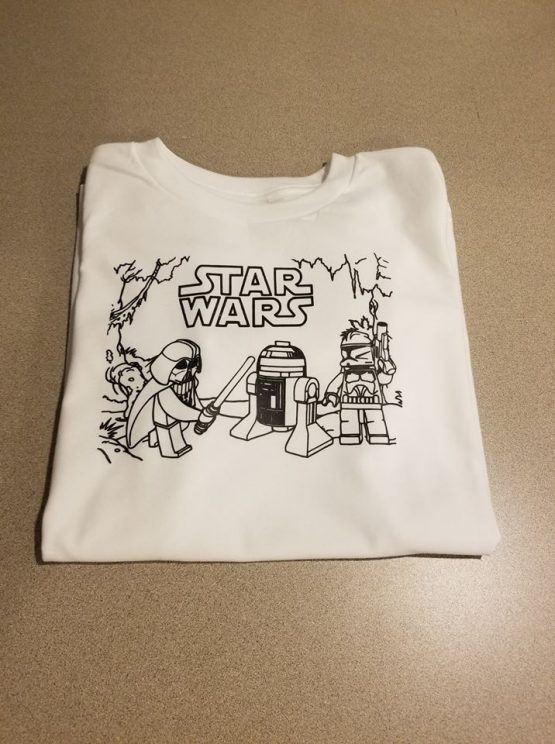 Color Your Own Shirt Star Wars Lego Characters