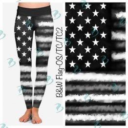 Distressed Flag Print Leggings
