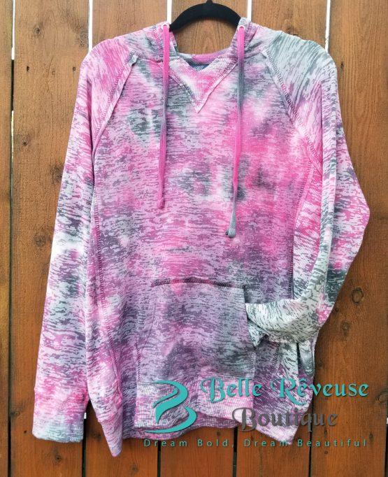 Hooded Sweatshirt - Raspberry Swirl