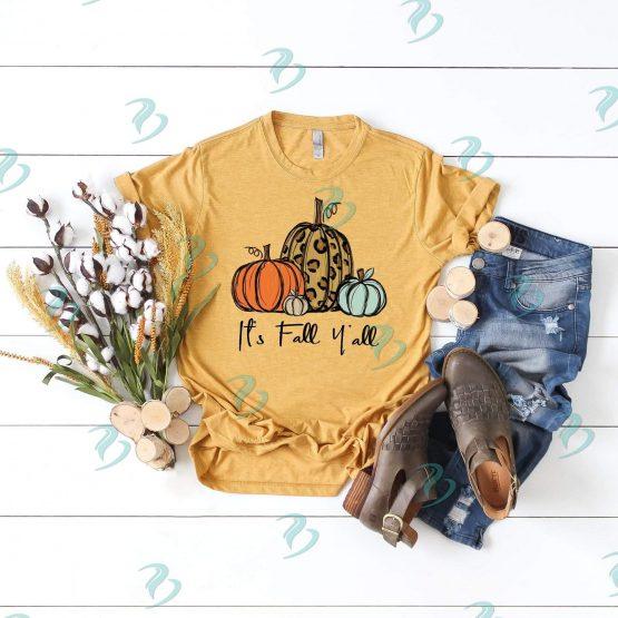 Its Fall Yall Graphic Shirt Mustard Color