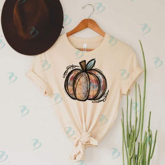 Tie Dye Pumpkin Graphic Shirt