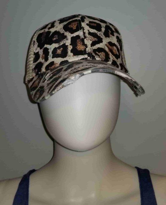 Leopard Ponytail Hat Display