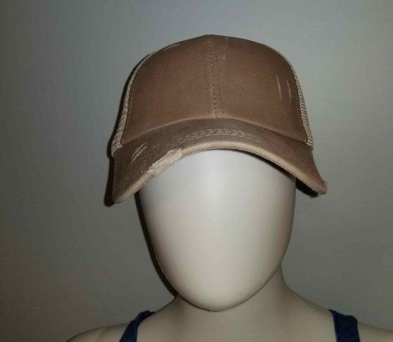 Tan Ponytail Hat Display