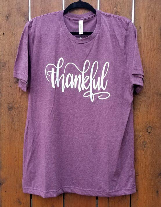 Thankful Graphic Shirt Hanging