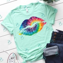 Tie Dye Lips Graphic Shirt
