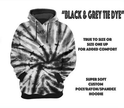 Black Tie Dye Hoodie Mock-up