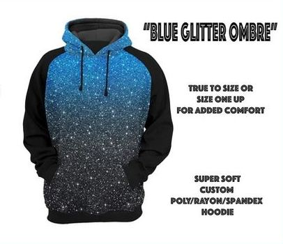 Blue Ombre Hoodie Mock-up