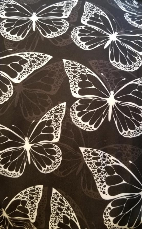 White Butterfly Print Close-up